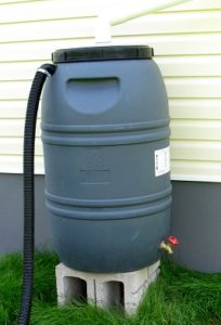 rainbarrel on blocks